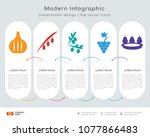 infographics design vector and  ... | Shutterstock .eps vector #1077866483