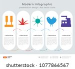 infographics design vector and  ... | Shutterstock .eps vector #1077866567