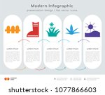 infographics design vector and... | Shutterstock .eps vector #1077866603