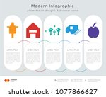 infographics design vector and... | Shutterstock .eps vector #1077866627