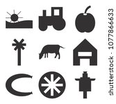 set of 9 simple editable icons... | Shutterstock .eps vector #1077866633