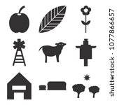 set of 9 simple editable icons... | Shutterstock .eps vector #1077866657