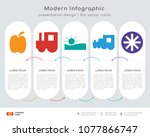 infographics design vector and  ... | Shutterstock .eps vector #1077866747