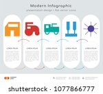 infographics design vector and  ... | Shutterstock .eps vector #1077866777