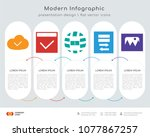 infographics design vector and... | Shutterstock .eps vector #1077867257