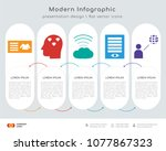 infographics design vector and... | Shutterstock .eps vector #1077867323