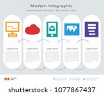 infographics design vector and... | Shutterstock .eps vector #1077867437