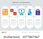 infographics design vector and  ... | Shutterstock .eps vector #1077867467