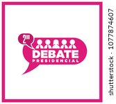 presidential debate. elections... | Shutterstock .eps vector #1077874607