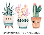 watercolor hand drawn... | Shutterstock . vector #1077882833
