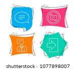 set of chat  stop talking and...   Shutterstock .eps vector #1077898007