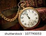 antique pocket clock showing a... | Shutterstock . vector #107790053