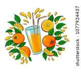 vector illustration of a glass... | Shutterstock .eps vector #1077924437
