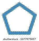 halftone circle contour...   Shutterstock .eps vector #1077975857