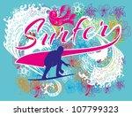 surfer graphic design | Shutterstock .eps vector #107799323