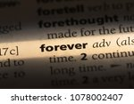 forever word in a dictionary.... | Shutterstock . vector #1078002407