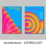set fantastical bright covers.... | Shutterstock .eps vector #1078011107