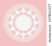 openwork white doily. lace... | Shutterstock .eps vector #1078011377
