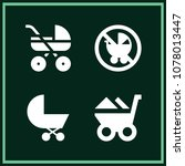 set of 4 carriage filled icons...   Shutterstock .eps vector #1078013447
