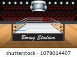 boxing stadium on the wooden... | Shutterstock .eps vector #1078014407
