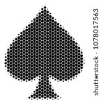 halftone dot peaks suit icon.... | Shutterstock .eps vector #1078017563