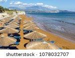 red sands of xsi beach ... | Shutterstock . vector #1078032707