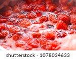 making strawberry jam | Shutterstock . vector #1078034633