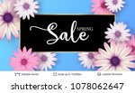 spring season flowers and sale...   Shutterstock .eps vector #1078062647