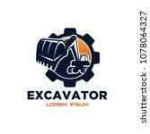 excavator vector logo template. ... | Shutterstock .eps vector #1078064327