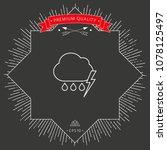 cloud thunderstorm lightning... | Shutterstock .eps vector #1078125497