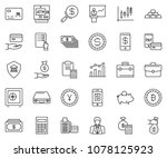 thin line icon set  ... | Shutterstock .eps vector #1078125923