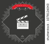 clapperboard icon symbol | Shutterstock .eps vector #1078126043