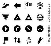 solid vector icon set  ... | Shutterstock .eps vector #1078131923