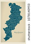 modern city map   manchester... | Shutterstock .eps vector #1078140953