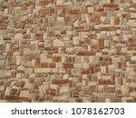 natural stones wall texture... | Shutterstock . vector #1078162703