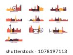 united kingdom uk cities icons... | Shutterstock .eps vector #1078197113