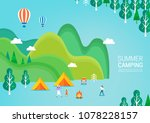 summer travel illustration | Shutterstock .eps vector #1078228157