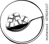 spoonful of sugar cube icon... | Shutterstock . vector #1078241117