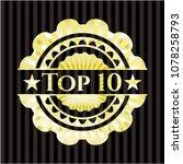 top 10 gold emblem or badge | Shutterstock .eps vector #1078258793