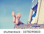 enjoy summer day at baltic sea...   Shutterstock . vector #1078290833