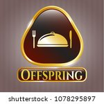 gold emblem or badge with...   Shutterstock .eps vector #1078295897