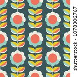 seamless pattern with flowers... | Shutterstock .eps vector #1078302767
