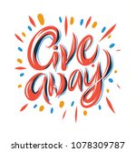 giveaway card  banner. hand... | Shutterstock .eps vector #1078309787