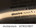 desire word in a dictionary.... | Shutterstock . vector #1078319807