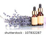 lavender flowers and aroma oils ... | Shutterstock . vector #107832287
