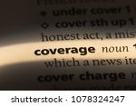 coverage word in a dictionary.... | Shutterstock . vector #1078324247