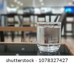 a glass of cold water on the... | Shutterstock . vector #1078327427
