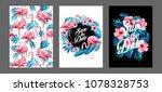 blue summer tropical palm... | Shutterstock .eps vector #1078328753