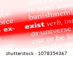 Small photo of exist word in a dictionary. exist concept