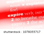 expire word in a dictionary.... | Shutterstock . vector #1078355717